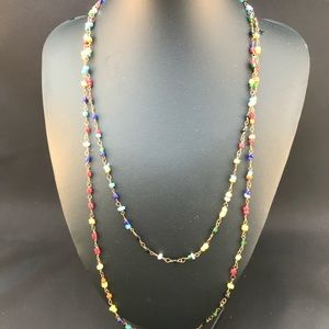 Vintage long beaded chain